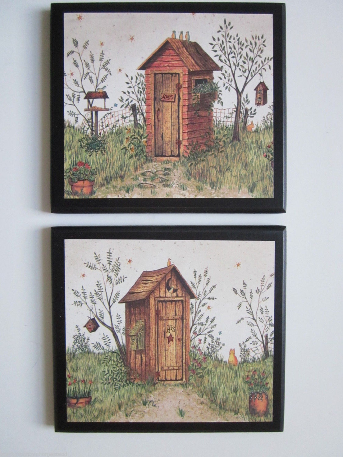 Outhouses For Country Bath His Amp Hers Rustic Lodge Wall