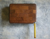 Vintage Teak Cheese Board   Butcher Block   Small Cuttingboard   Teakwood Serving Tray   Mid Century Kitchen   Siamese Teak   Hong Kong