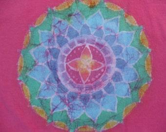 Rainbow Mandala design t-shirt, size: unisex adult XL