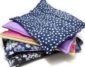 Five Heating Pads, Microwave Hot Cold Packs, rice bag flax, mixed lot gifts for event, Home Spa Gift for Teachers Bulk Gifts Herbal Lavender