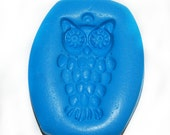 Flexible Food Grade Silicone Mold - Wise Old Owl - Handmade - Perfect for Food and Craft - Liquidation Sale