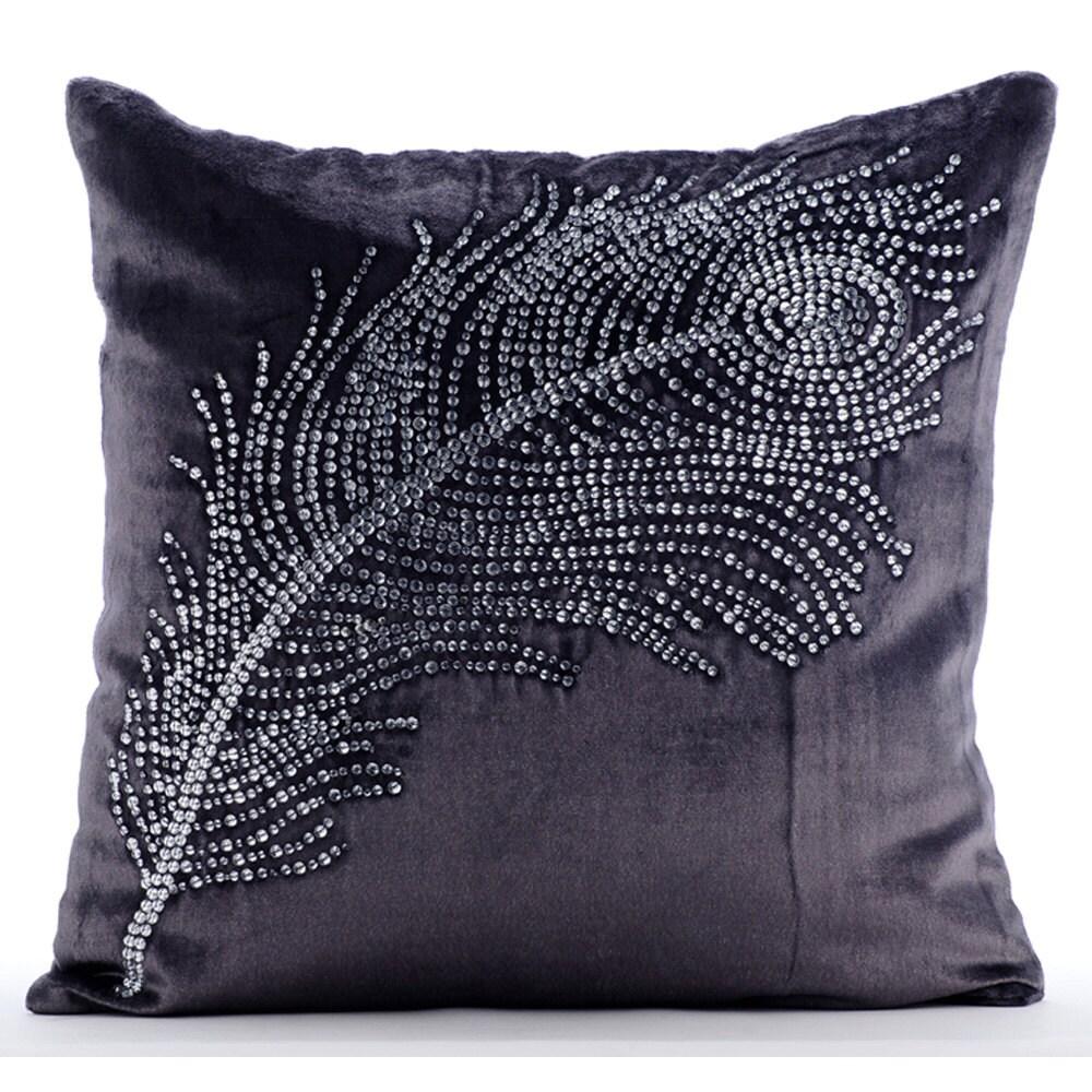 Handmade Purple Charcoal Pillows Cover 16x16