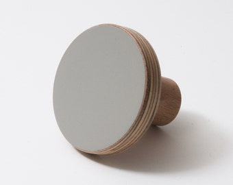 Wooden knob grey color