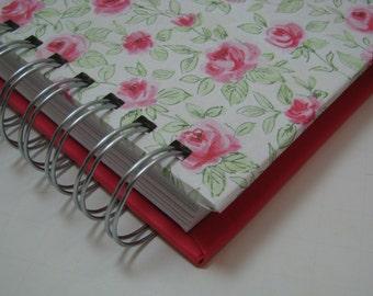 Recipe Book/ Recipe Log/ Recipe Organizer/ Recipes/ Recipe Journal/ Recipe Notebook/ Cooking/ Foodie Gift/ Bridal Shower Gift/ Pink Red Rose