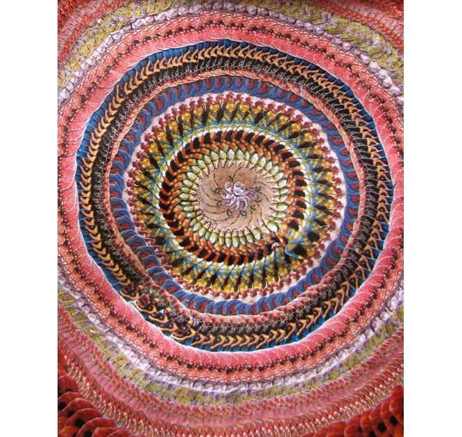 8x10 Original Collage Hindu Spiritual Mandala By CaraChristopher