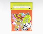 Chihuahua Sticker set, Hipster, Glasses, Speech Bubbles