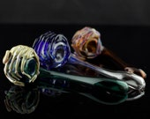Facehugger Alien Large Glass Sherlock Pipe Hand Blown Thick Wall in YOU CHOOSE the COLOR, Made to Order