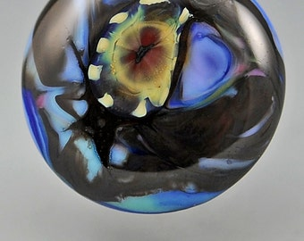 New Earth  ... glass CABOCHON artsy organic lampwork jewelry designer cabs SRA by GrowingEdgeGlass/ Mikelene Reusse