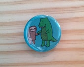 Sloth and Alligator Button