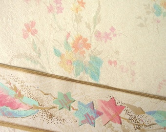 Vintage 1932 Wallpaper Sample and Border - Ballast