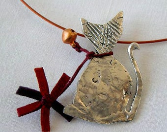 Colgante gato / Cat necklace
