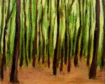 Forest - original oil painting
