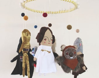 Star Wars Baby Mobile  Made to Order