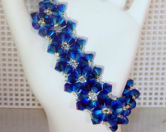 Swarovski Crystal Jewelry - Bride, Bridesmaids, Maid of Honor Bracelet - Any Color
