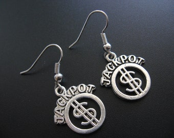 Jackpot Jewelry, Jackpot Earrings, Casino Jewelry, Casino Earrings, Gambling Jewelry, Gambling Earrings, Vegas Jewelry, Vegas Earrings