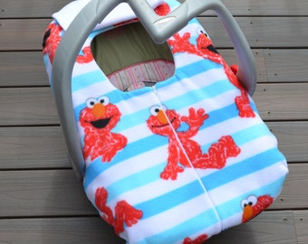 Elmo Car Seat Cover for Baby, Fall Baby Shower Gift, Baby Boy, Muppets- by sophiemarie-  not a registered product of the Sesame Workshop