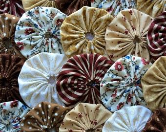 Fabric Wedding Applique Hair Clip 50 BROWN Tan 1 1/2 Inch  Barrette Headband Trim