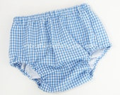 Baby Buns Basic Diaper Cover Pants in Denim Gingham Check  Red Navy Light Blue Green Black Yellow Pink & More Monogram Available