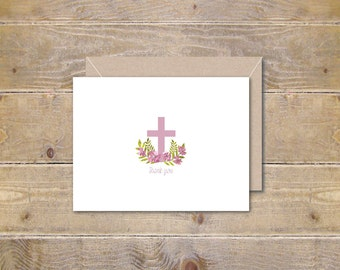 Baptism Thank You Cards, Commuinion Thank You Cards, Christening Thank You Cards, Confirmation, Thank You Notes, Religious Thank You Cards