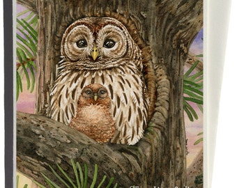 Barred Owls Greeting Card by Tracy Lizotte