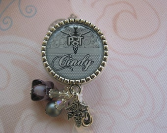 Personalized Physical Therapy Badge Id, Badge reel