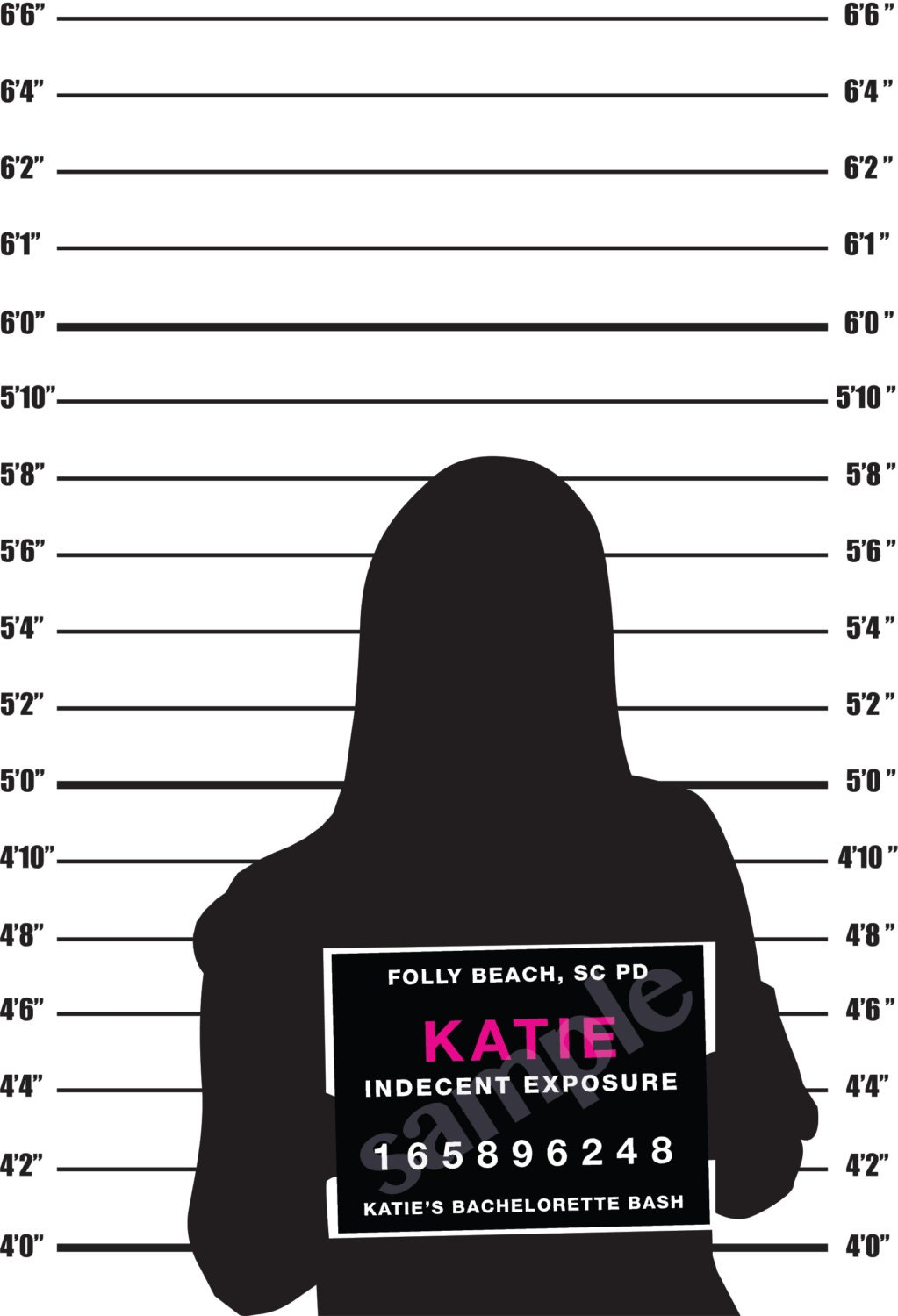 police mugshot height background 24x36 instant