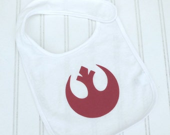 READY TO SHIP Star Wars inspired Jedi Rebel Alliance Star bird 100% cotton bib for baby and toddlers