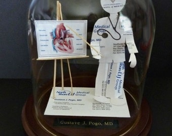 Heart Doctor Cardiology Cardiologist Business Card Sculpture -Design 8974