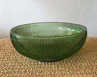 E.O. Brody Green Glass Bowl