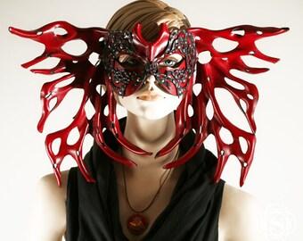 Butterfly mask, leather mask masquerade mask, mardi gras mask, halloween mask, beautiful mask, elegant mask, theatre mask