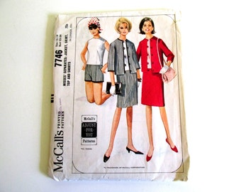 Vintage Sewing Pattern McCall 7746 Misses Separates Jacket Skirt Top Shorts Size 12-14 Bust 32-34