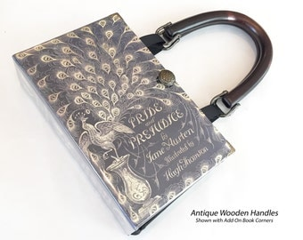 Pride and Prejudice Book Purse - Jane Austen Book Cover Handbag - Pride and Prejudice Book Clutch - Jane Austen Bookish Fashion
