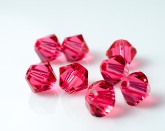 Padparadscha Champagne Bicone Crystal Beads