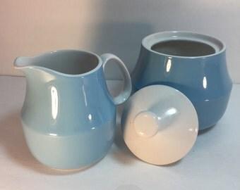 Mikasa Light Blue Cera Stone Sugar Creamer Set