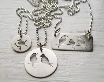 Little Birds Cutout Necklaces - Assorted