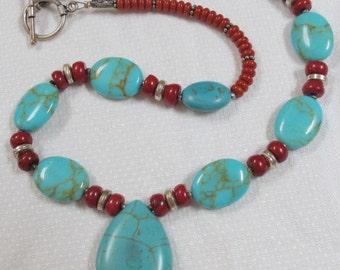 That Special Necklace Turquoise & Coral