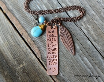 More Than Love Stamped Necklace
