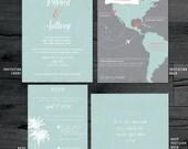 Destination Wedding Invitation, Destination Invitation, Map Wedding Invitation, Custom Map Wedding