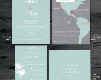 destination wedding invitation destination invitation map wedding invitation custom map wedding - Destination Wedding Invites