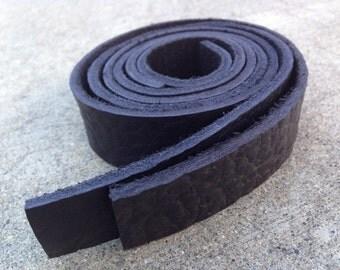 "25"" x 1"" Set of 2 Black Leather Straps"