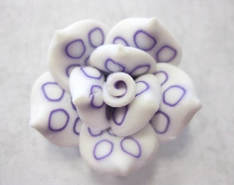 25mm Polymer Clay Rose Beads Set of Three (R09)