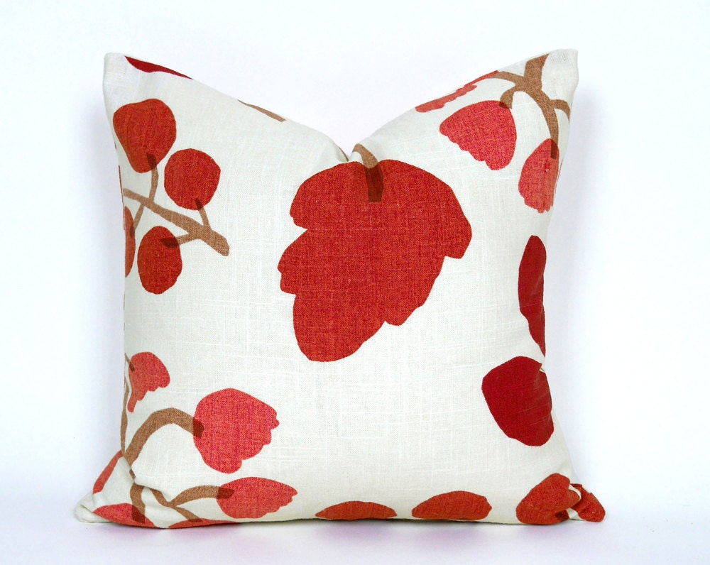 Decorative Cream Pillows : Cream Red Pillow Covers Cream Decorative Throw Pillows Cream