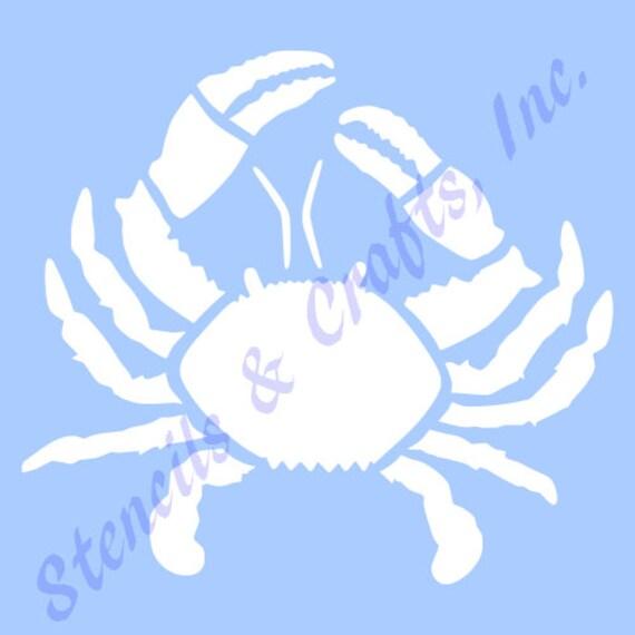11 crab stencil template sea ocean mollusk stencils