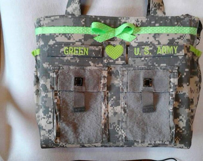 Best Camoflage diaper bags trending personalized customized Army Multicam Navy Air Force Marines your choice colors words you design it