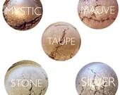 Mineral Eyeshadow • 5 Piece Mineral Eyeshaow Gift Set • Natural Makeup • Handmade Makeup • Earth Mineral Cosmetics