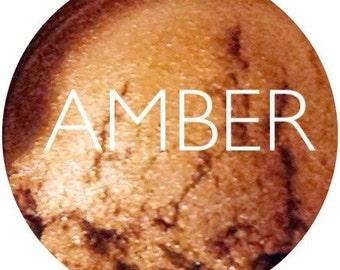 Amber Mineral Eyeshadow  •  Vegan & Gluten-Free Mineral Makeup •  Natural Makeup • Earth Mineral Cosmetics