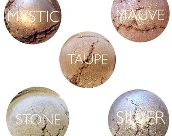 Mineral Eyeshadow • 5 Piece Mineral Eyeshaow Gift Set • Natural Makeup • Handmade Makeup • Earth Mineral Cosmetics
