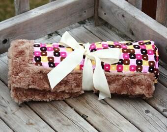 SALE Satin/Minky Crib & Toddler Bed Blanket