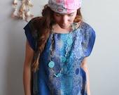 Cobalt Blue Floral Paisle...