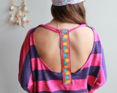 Striped Colorful Floral T...
